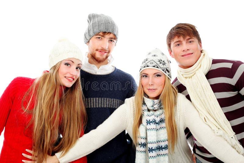 lyckliga vänner royaltyfri bild