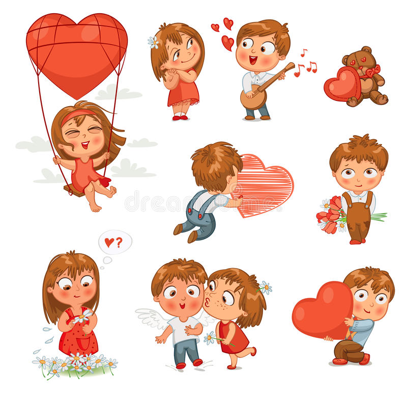 Lyckliga valentin dag stock illustrationer