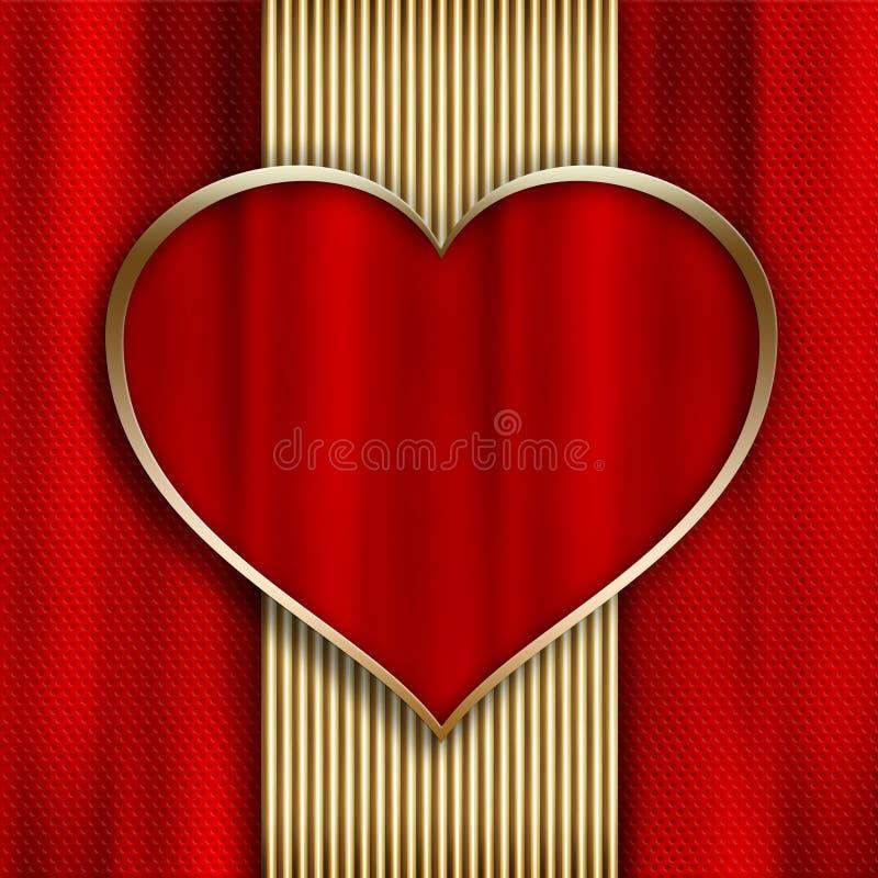 Lyckliga valentin dag - mall för hälsningkort royaltyfri illustrationer