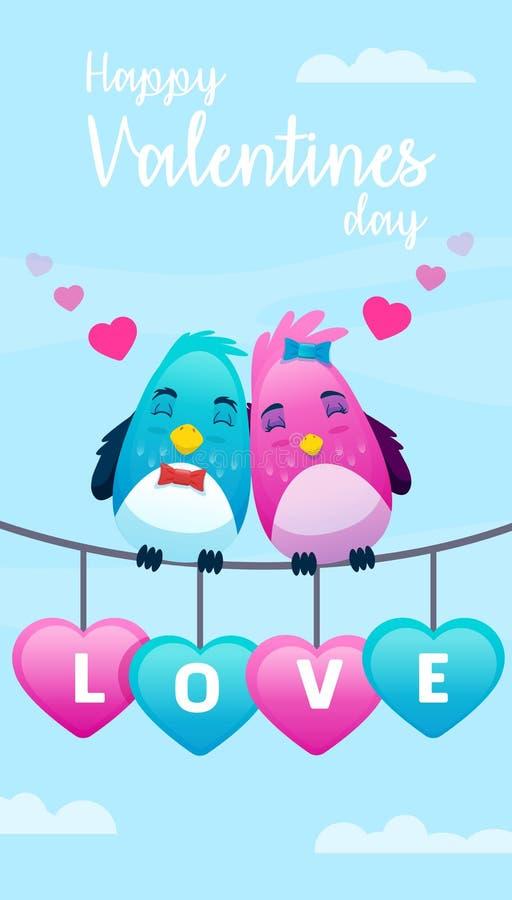 lyckliga valentiner för kortdag vektor illustrationer