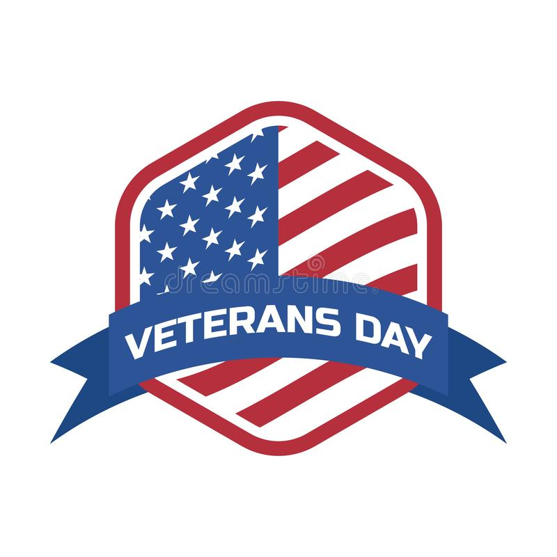 Lyckliga veteran dag för amerikansk veteran vektor royaltyfri illustrationer