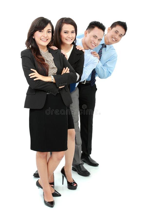 Lyckligt affärsfolk royaltyfri foto