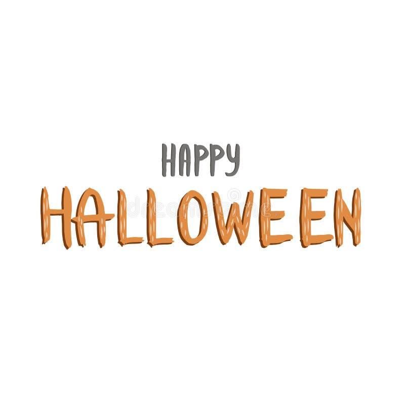 Lyckligt allhelgonaaftontextbaner Lycklig allhelgonaaftonbokstäver Vektor Halloween vektor illustrationer