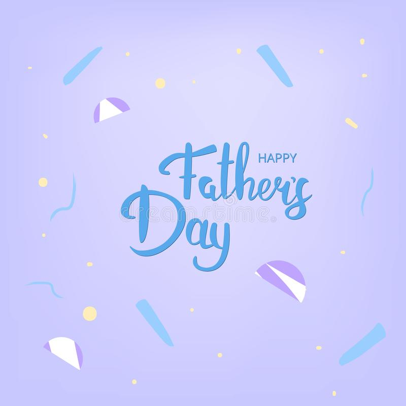 Lyckligt baner för dag för fader` s Beståndsdel för hälsningkort också vektor för coreldrawillustration royaltyfri illustrationer
