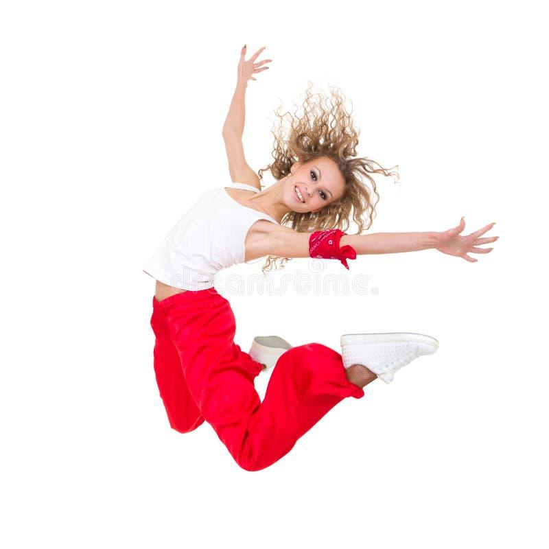 lyckligt banhoppningbarn för dansare arkivbild