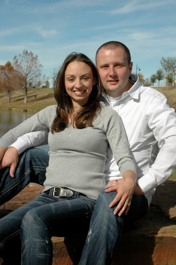 lyckligt barn för par royaltyfri bild