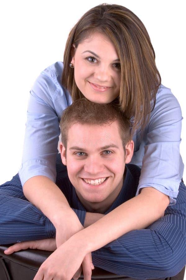 lyckligt barn för par arkivfoton