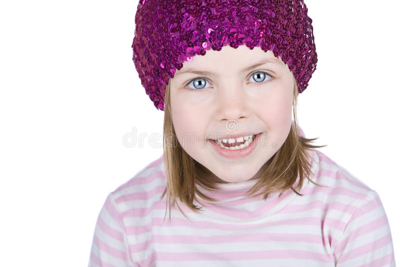 lyckligt blont barn royaltyfri foto
