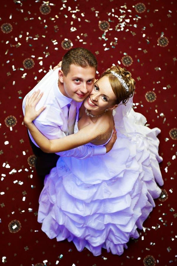 lyckligt bröllop för bruddagbrudgum royaltyfri fotografi