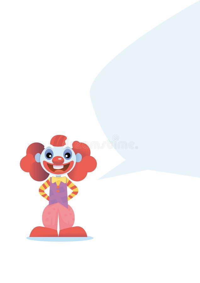 Lyckligt clowntecken stock illustrationer