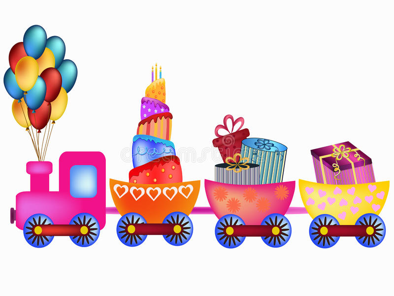 lyckligt drev för födelsedag royaltyfri illustrationer