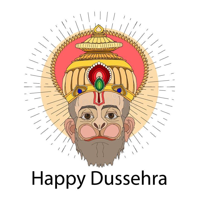Lyckligt Dussehra bakgrundsbegrepp vektor illustrationer