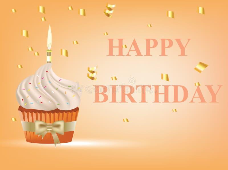 lyckligt födelsedagkort stock illustrationer