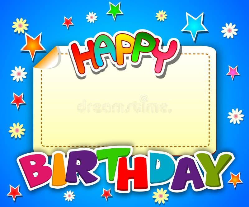 lyckligt födelsedagkort royaltyfri illustrationer