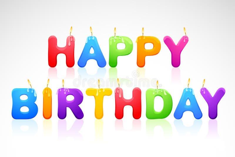 Lyckligt födelsedagstearinljus vektor illustrationer