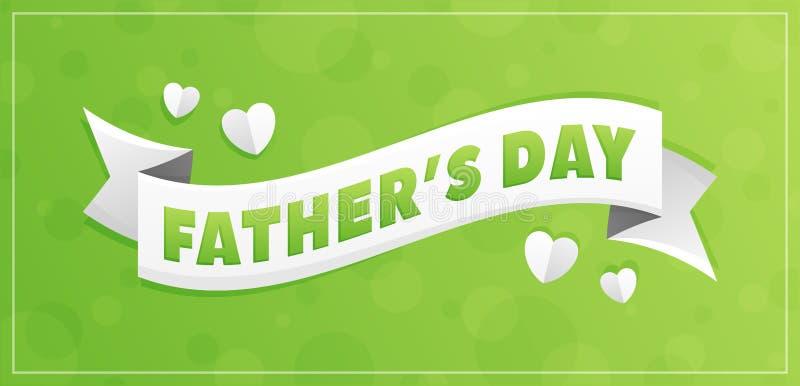 Lyckligt faders färgrikt kort för dag stock illustrationer