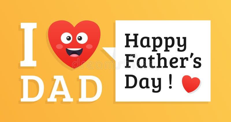 Lyckligt faders färgrikt kort för dag vektor illustrationer