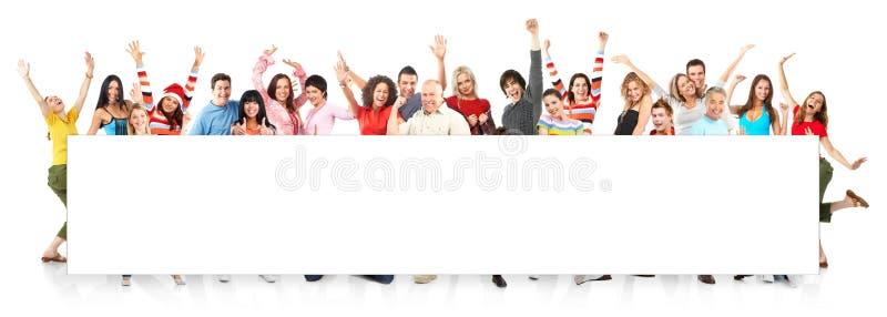 lyckligt folk royaltyfri bild