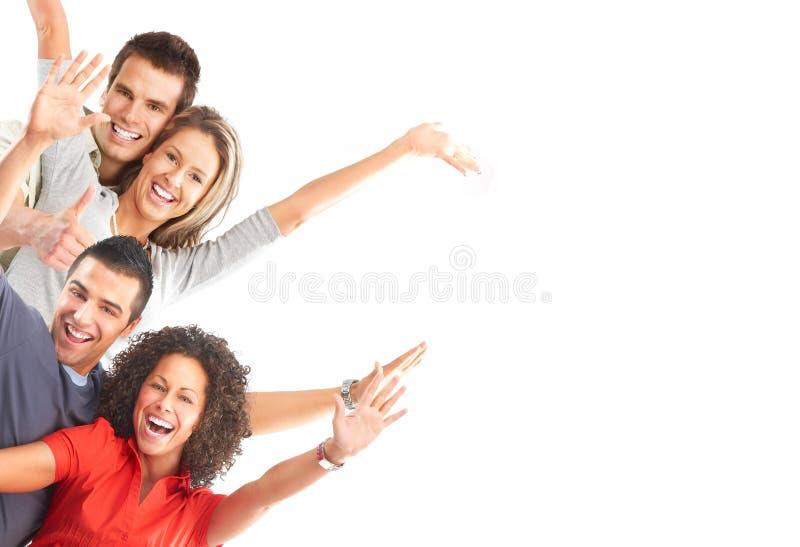 lyckligt folk arkivbilder