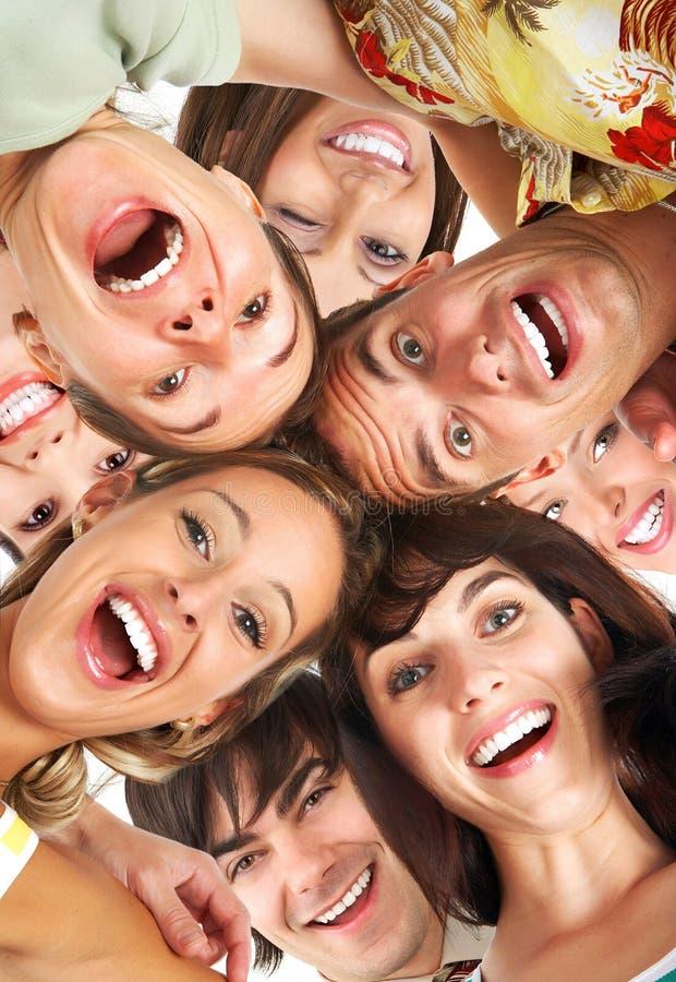 lyckligt folk royaltyfri fotografi