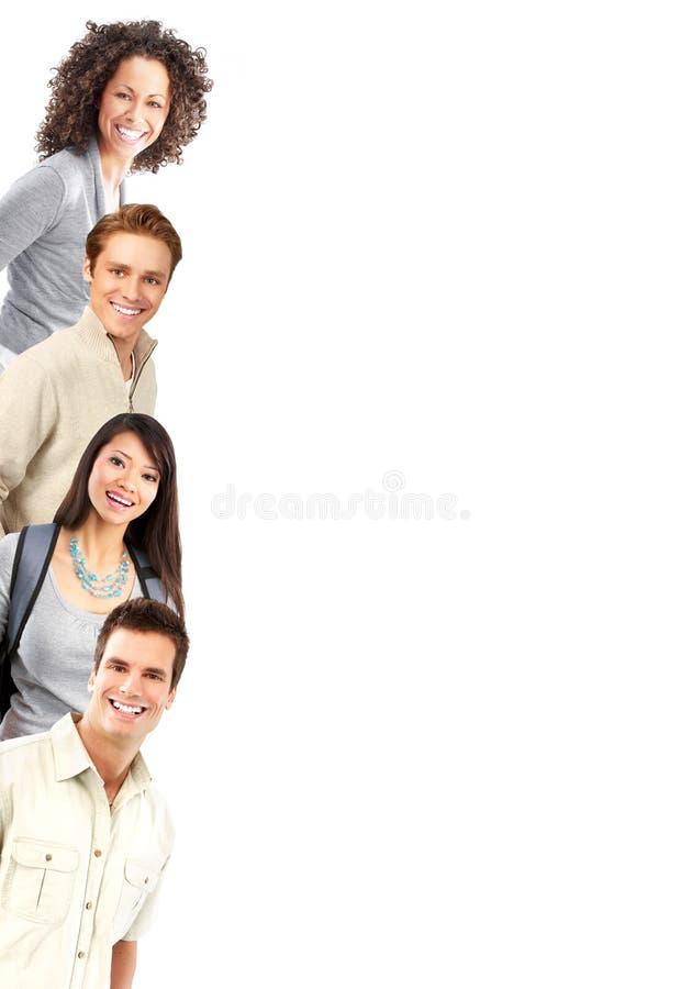 lyckligt folk royaltyfria bilder