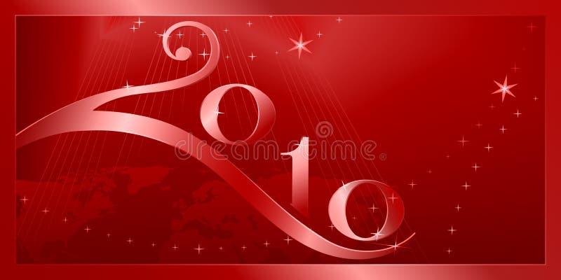 lyckligt glatt nytt år för 2010 jul stock illustrationer