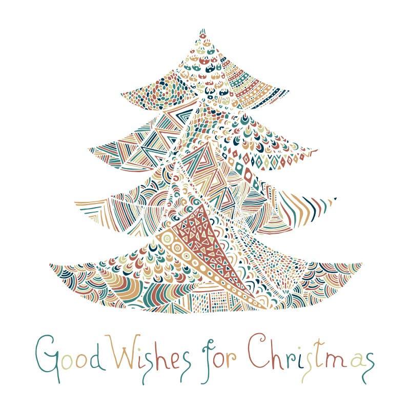 lyckligt glatt nytt år för kortjul stock illustrationer
