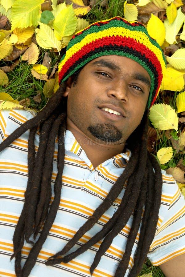 lyckligt jamaican le arkivbilder