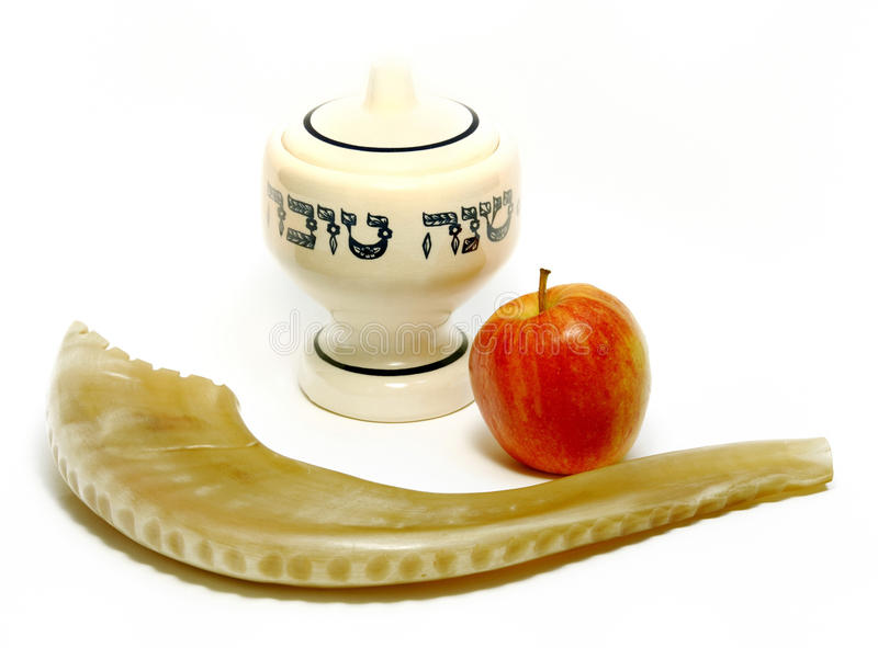lyckligt judiskt nytt år royaltyfri bild