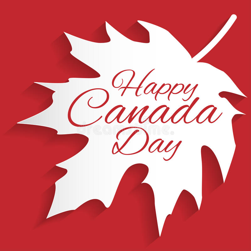 Lyckligt Kanada dagkort arkivfoto