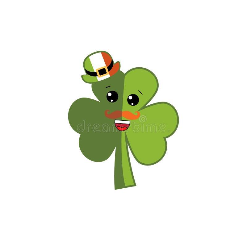 Lyckligt kort för hälsning för dag för St Patrick ` s Trollhatt ben av trollet i strumpor och skor shamrock också vektor för core royaltyfri illustrationer