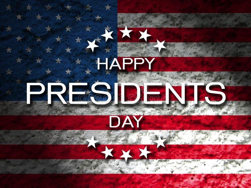 Lyckligt kort för presidentdaghälsning arkivfoton