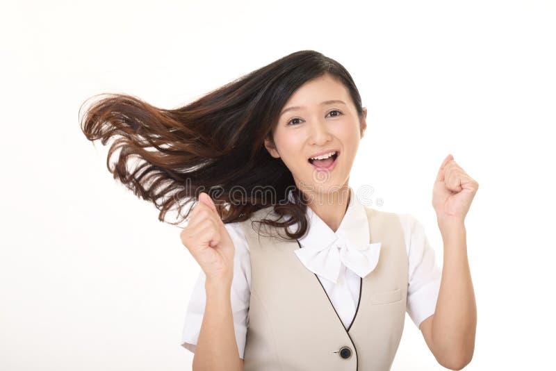 lyckligt kvinnabarn för affär royaltyfria bilder