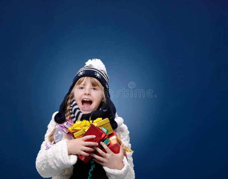 Lyckligt kvinnligt barn royaltyfria bilder