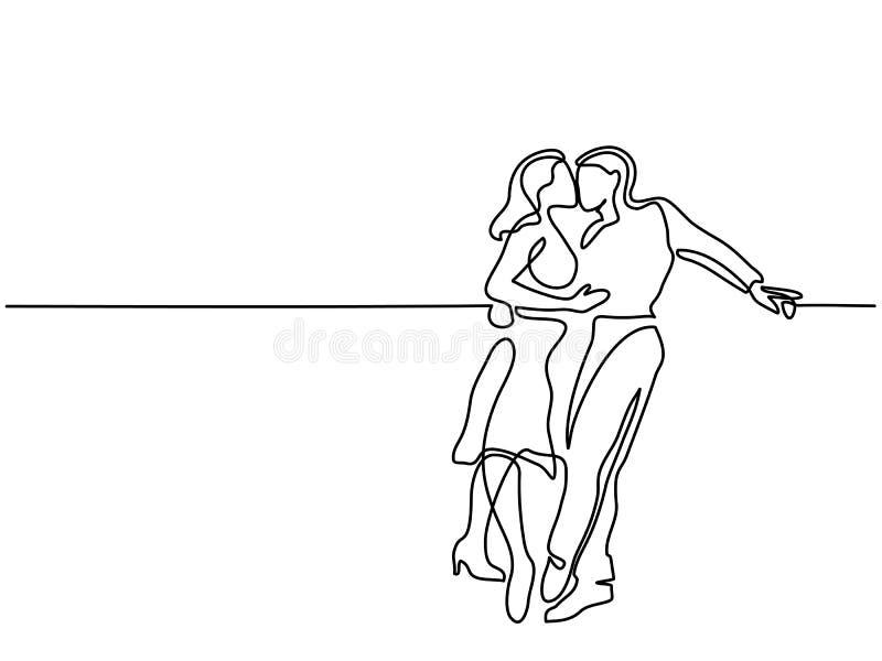 lyckligt kyssa för par royaltyfri illustrationer