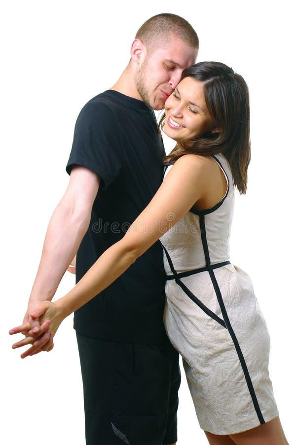 lyckligt le för attraktiva par fotografering för bildbyråer