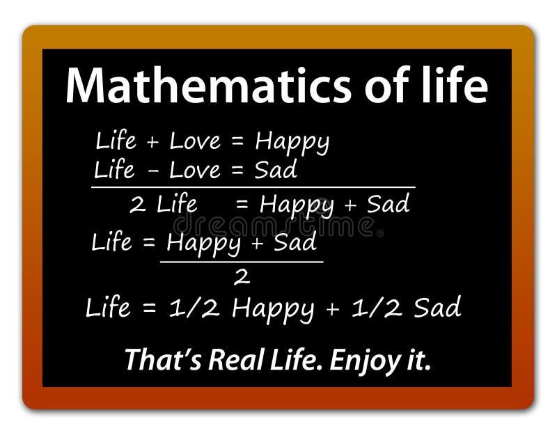 Lyckligt ledset för liv vektor illustrationer