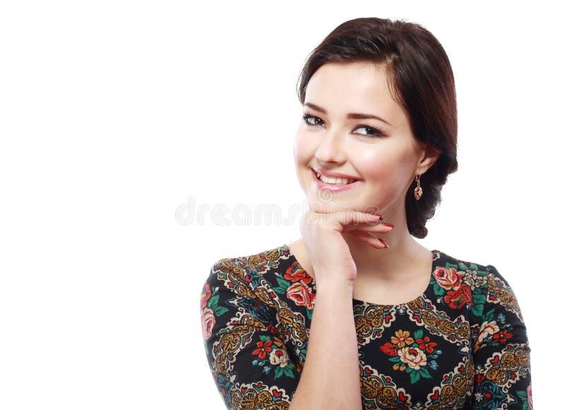 Lyckligt leende för kvinna arkivfoton