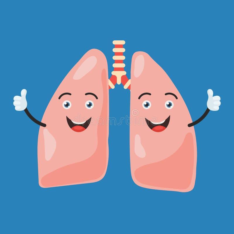 Lyckligt lungatecken vektor illustrationer
