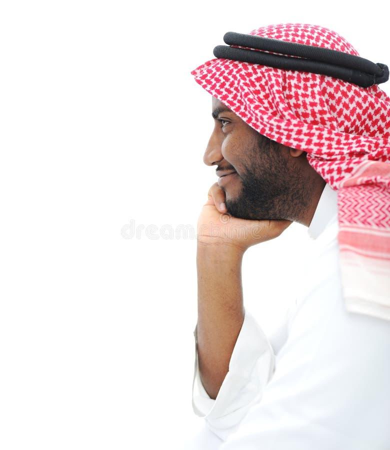 lyckligt lyckat för arabisk affärsman royaltyfri foto