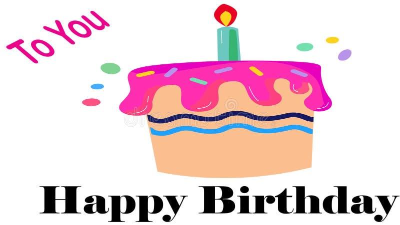 lyckligt meddelande för födelsedag stock illustrationer