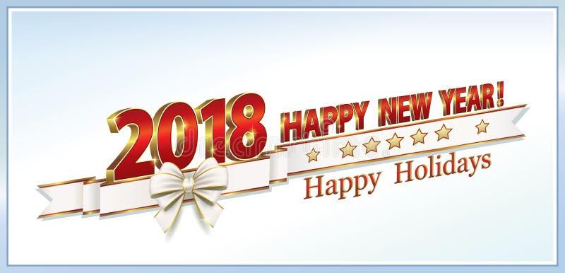 Lyckligt nytt år 2018 royaltyfri illustrationer