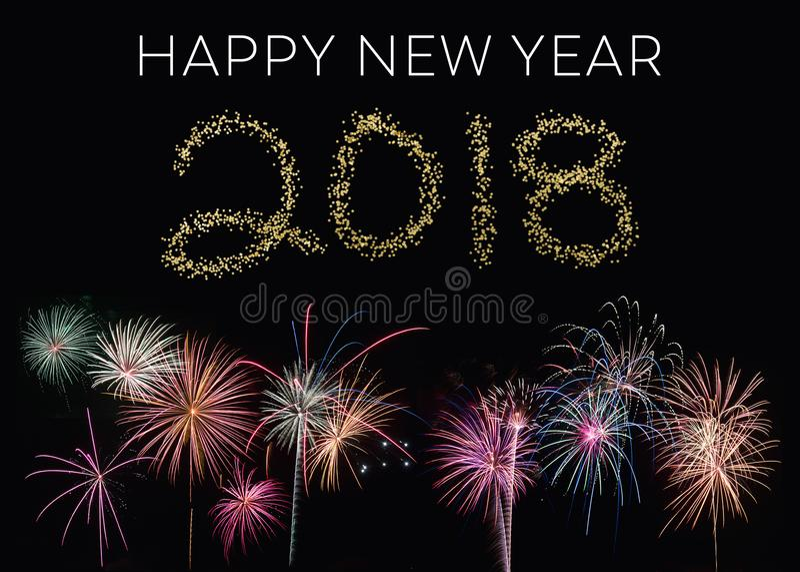 Lyckligt nytt år 2018 royaltyfria foton