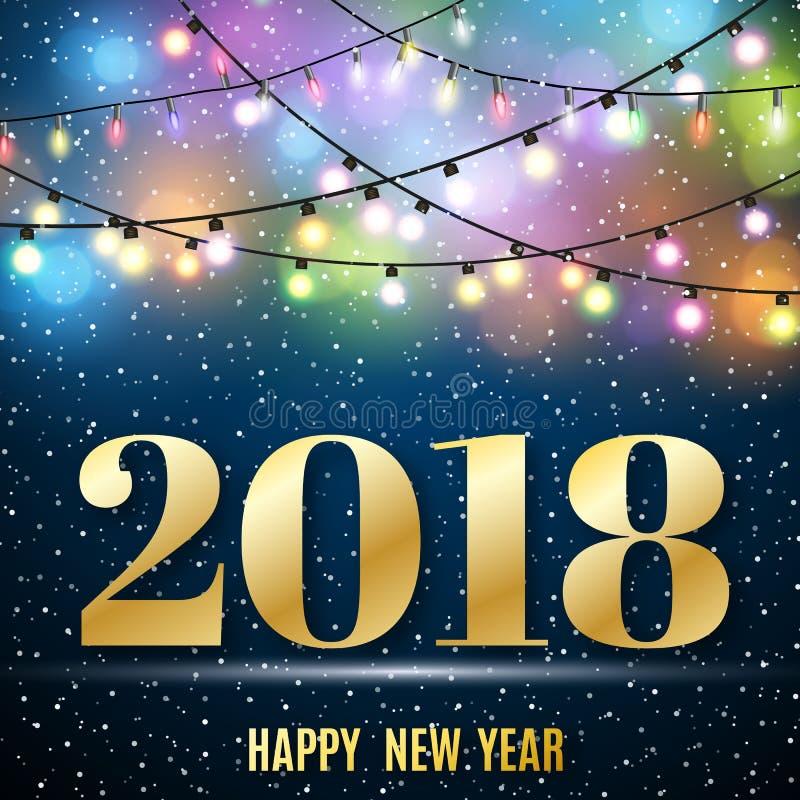 Lyckligt nytt 2018 år royaltyfri illustrationer