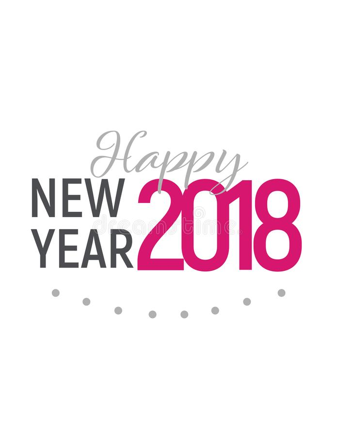 Lyckligt nytt år 2018 royaltyfri bild