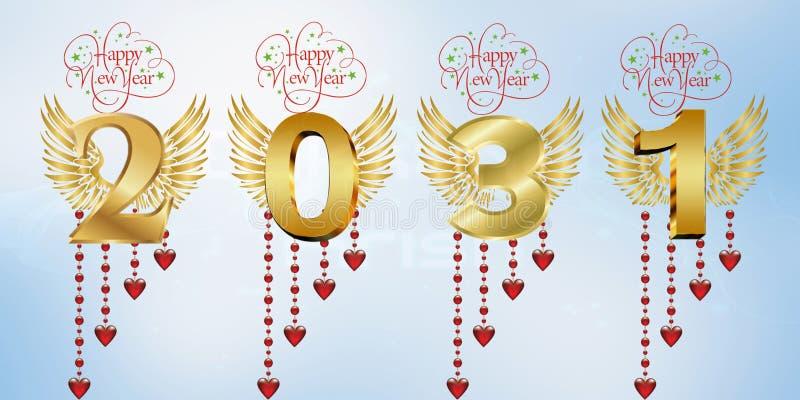 Lyckligt nytt år 2031 stock illustrationer