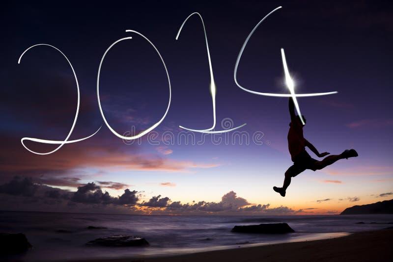 Lyckligt nytt år 2014 royaltyfri bild