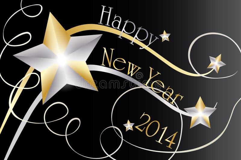 Lyckligt nytt år 2014 vektor illustrationer