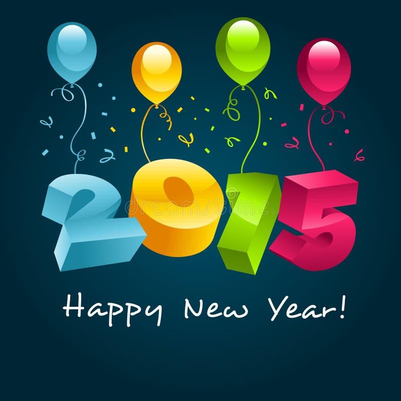 Lyckligt nytt år 2015 stock illustrationer