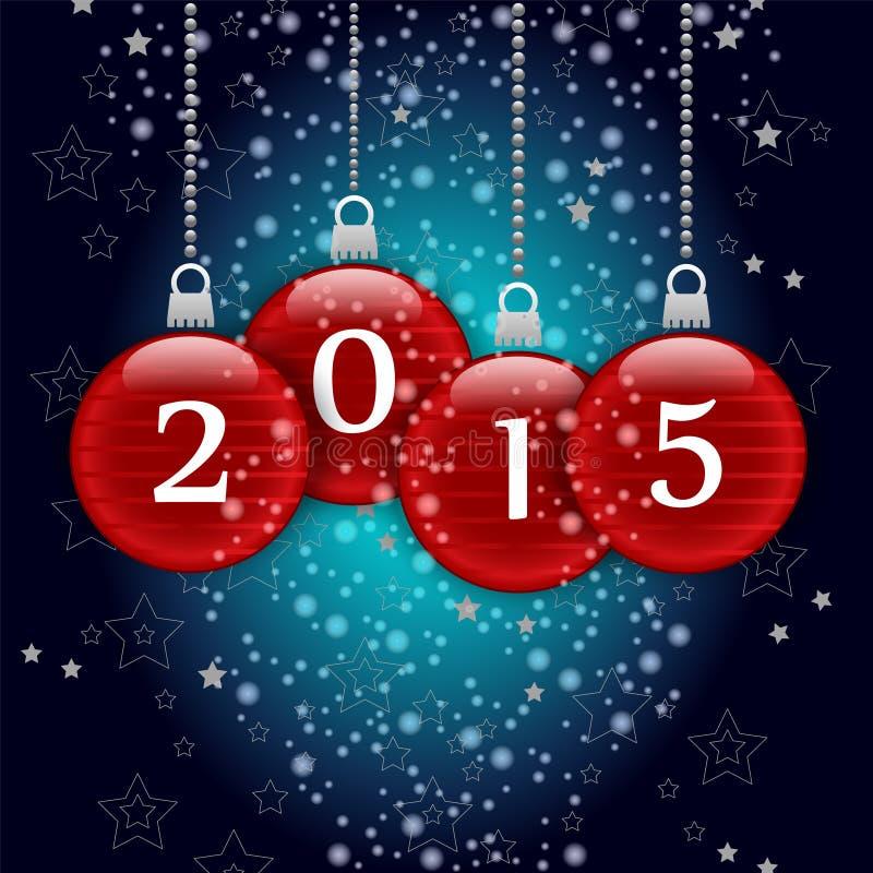 Lyckligt nytt år 2015 royaltyfri illustrationer